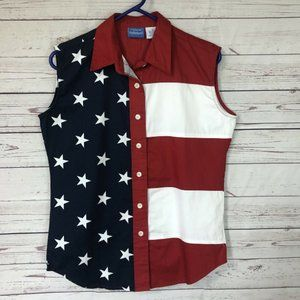 Natural Reflections Red White Blue Sleeveless